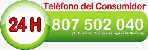 Teléfono del Consumidor 24 Horas